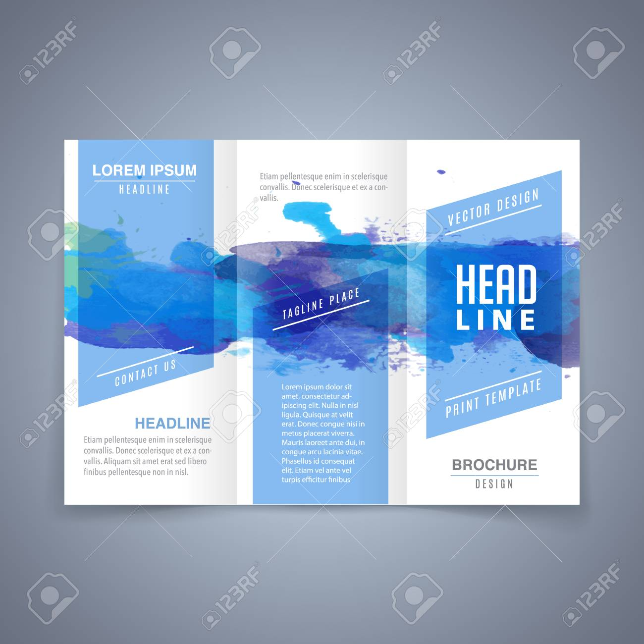 vector modern flyer poster or tri fold brochure design template