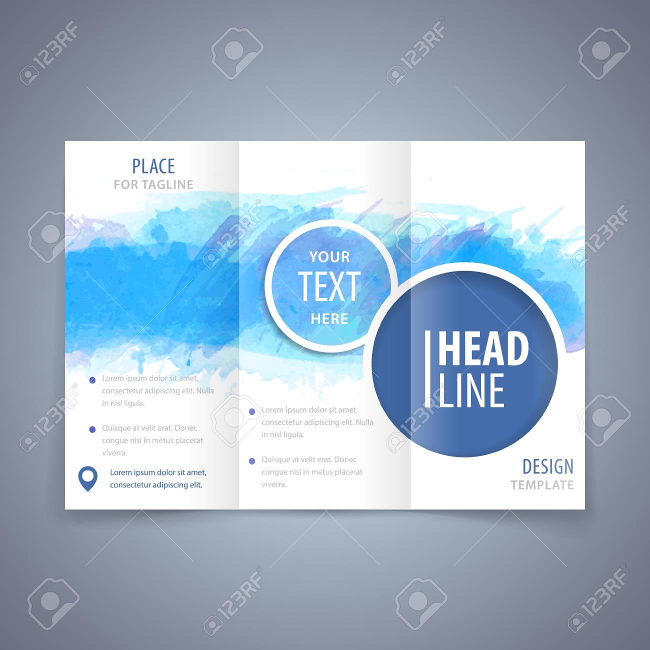 Vector Modern Flyer Poster Or Tri Fold Brochure Design Template