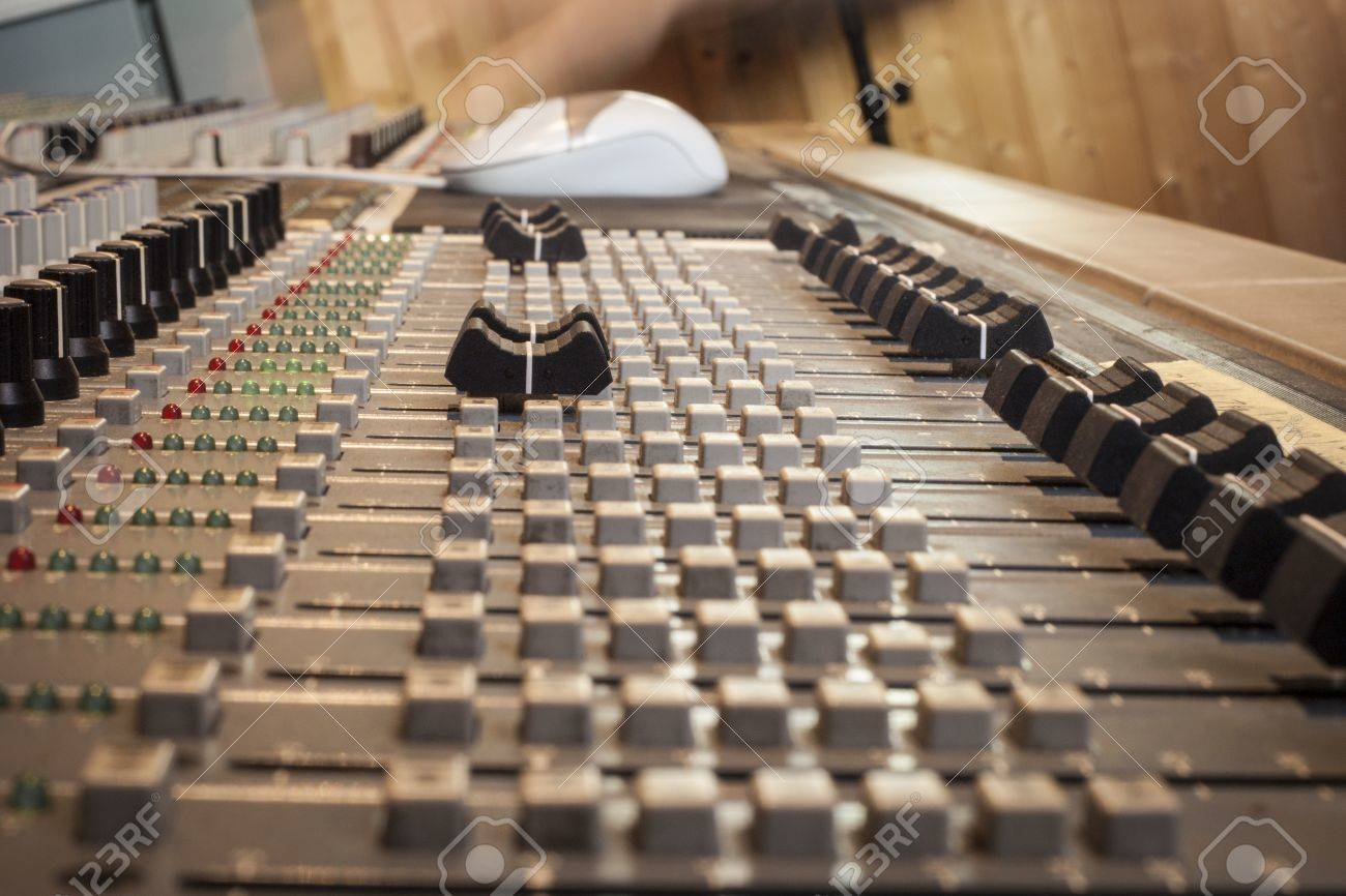 Digital sound mixing console Stock Photo - 17467015
