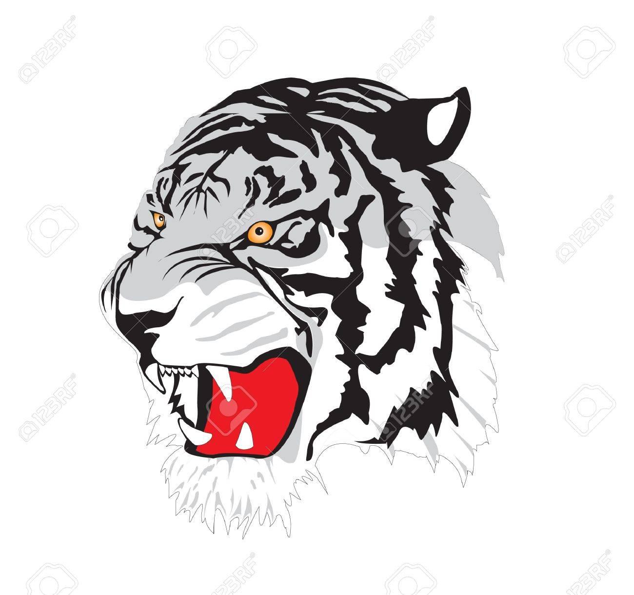 tiger tattoo - vector Stock Vector - 11878557