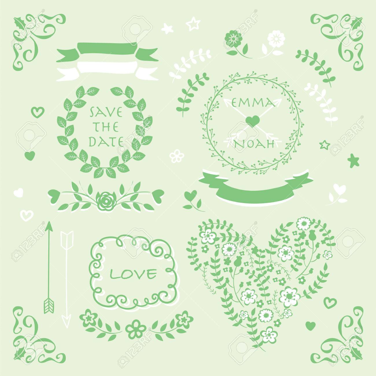 Mint green vector wedding invitation design element pattern symbol mint green vector wedding invitation design element pattern symbol set stock vector 45767482 stopboris Gallery