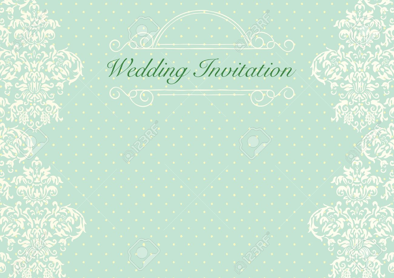 Mint Green Wedding Invitation Background Royalty Free Cliparts