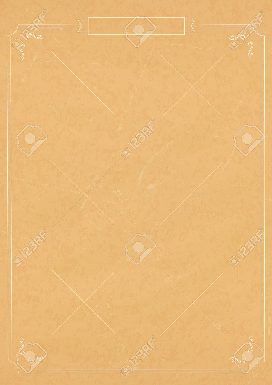 A4 Size Vertical Vintage Textured Paper Background Stock Vector