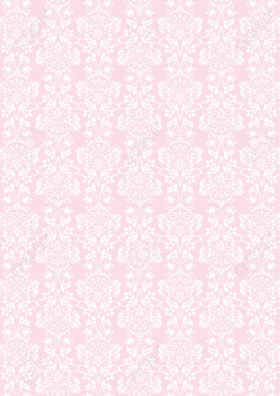 A4 サイズ エレガントなピンクの花のテクスチャ パターンの壁紙の背景のイラスト素材 ベクタ Image 52255643