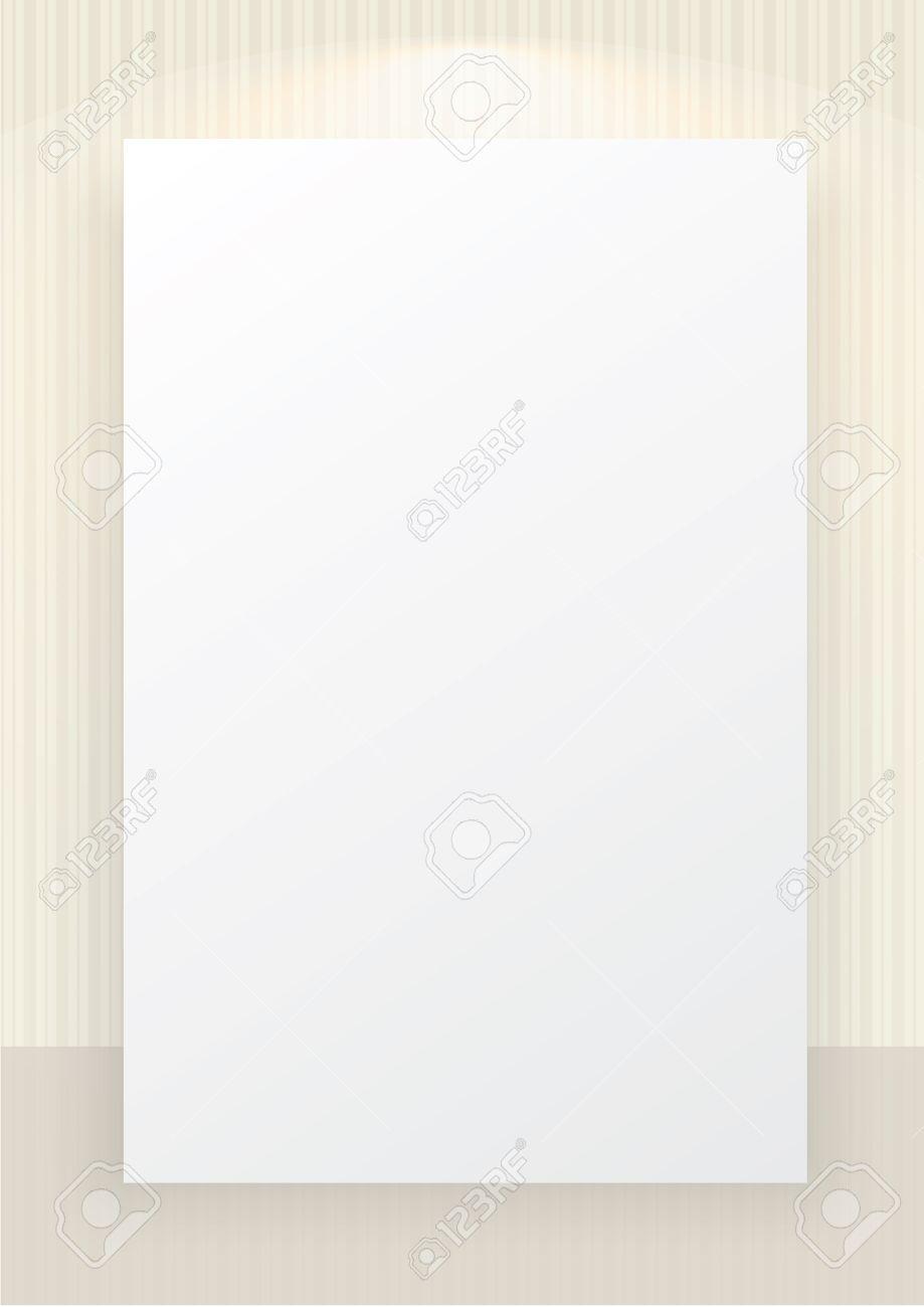 A3 と の国際的な用紙サイズ ベージュ ストライプ ホワイト スペースの背景とスポット ライトのライン パターンの壁紙のイラスト素材 ベクタ Image