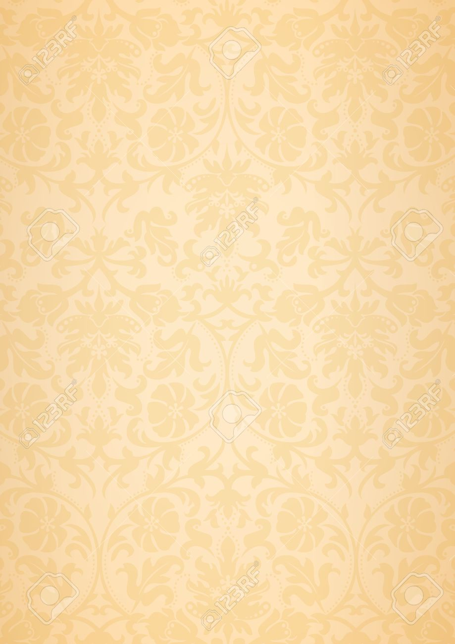 A3 And A4 Size Beige Classic Flower Pattern Wallpaper Background Royalty Free Cliparts Vectors And Stock Illustration Image 52255497