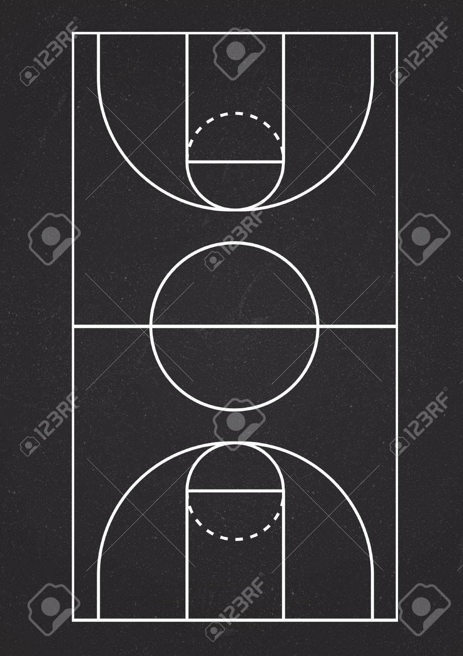 A4 Size Vertical Basketball Court Line Vector Royalty Free Cliparts Vectors And Stock Illustration Image 53041445
