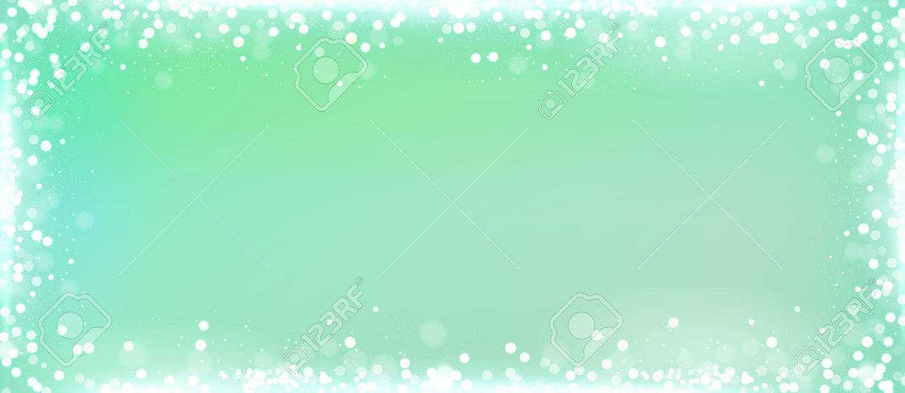 mint green website blog banner background with the white bokeh