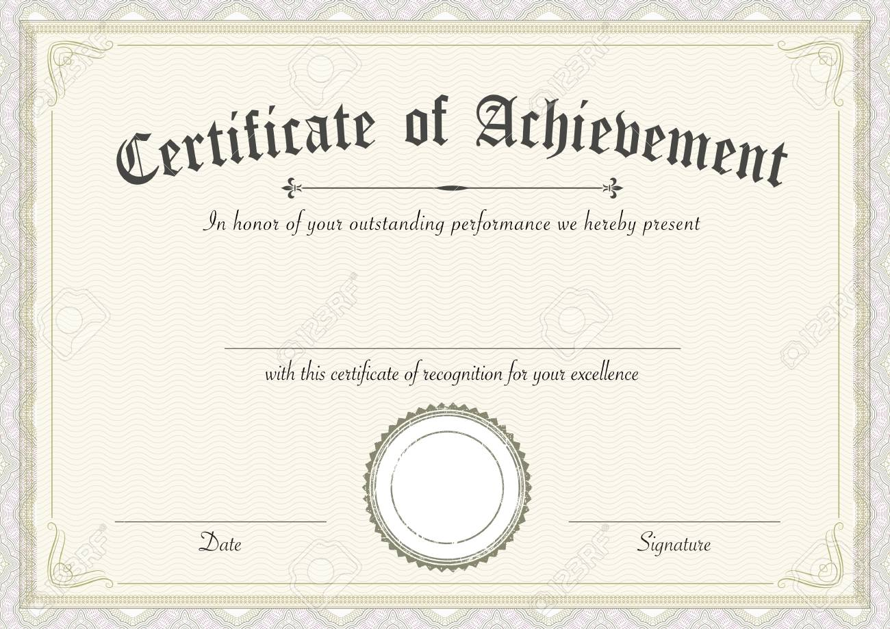 a3 international paper size classic and retro certificate of