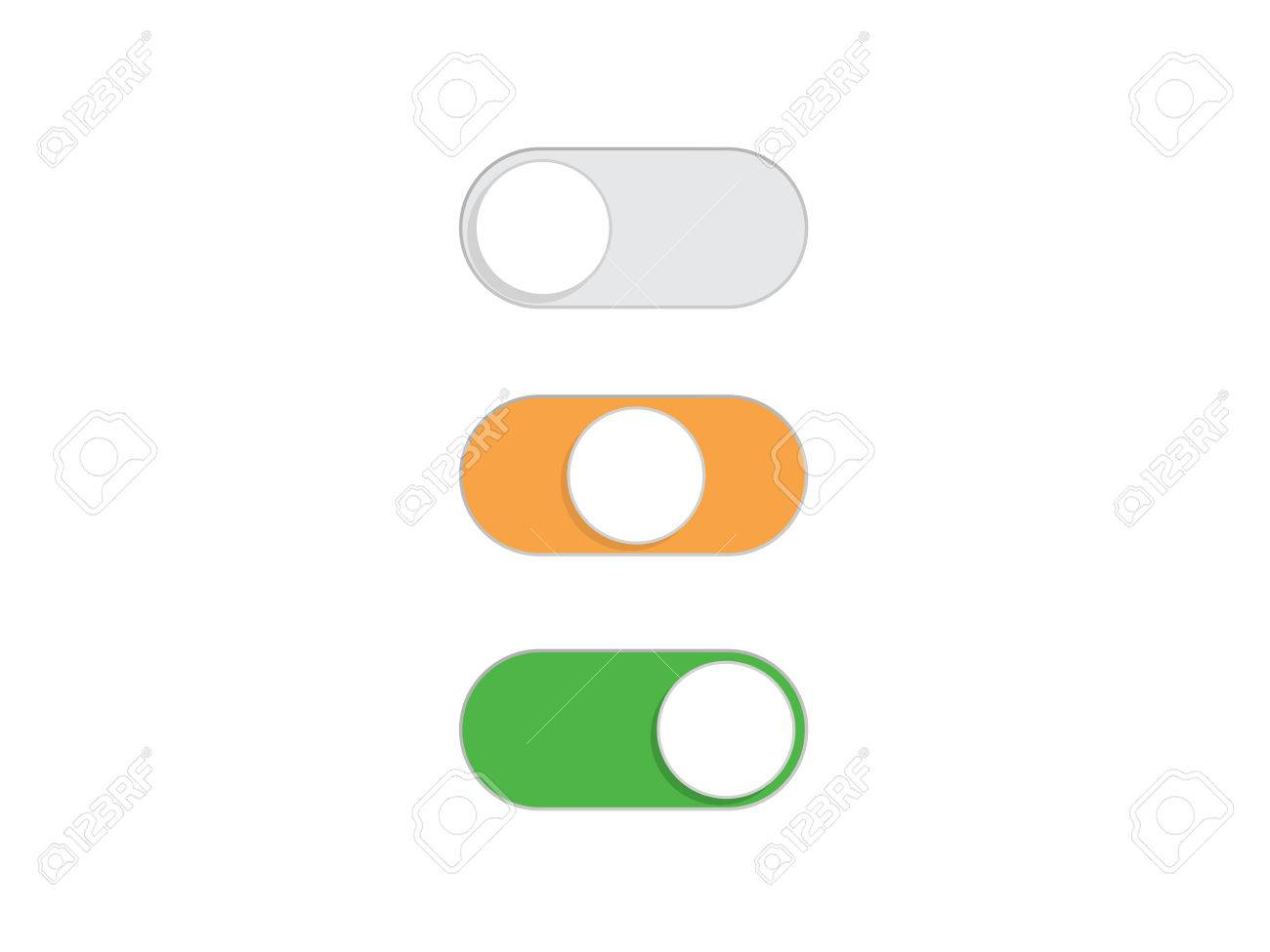 Flat Simple On And Off Toggle Switch Button Vector Format Royalty ...