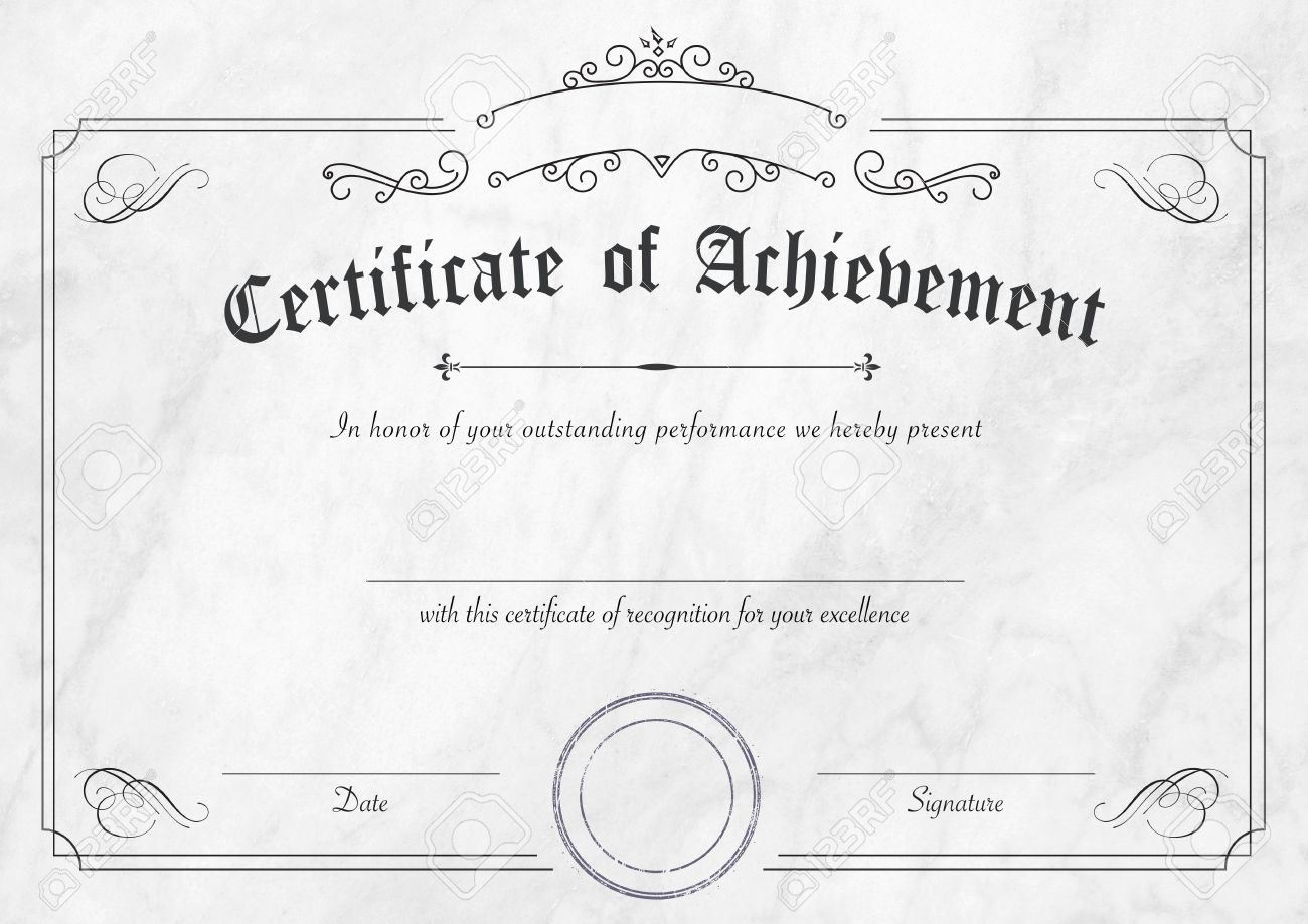 A3 international paper size classic and retro certificate of a3 international paper size classic and retro certificate of achievement paper template with modern white xflitez Gallery