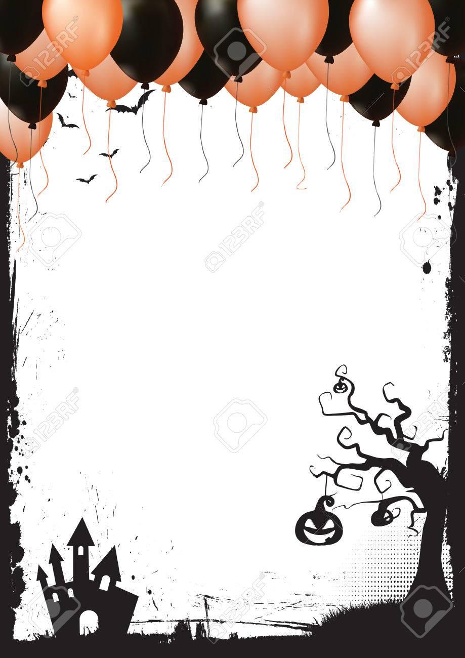 A3 Internationale Papier Größe Halloween Element Grenze, Orange Und ...