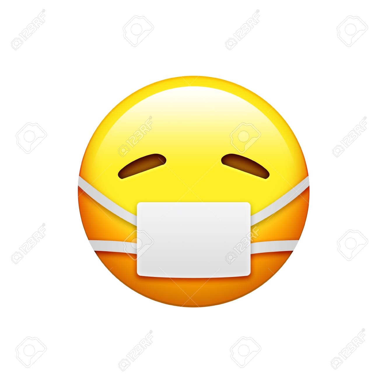 The emoji yellow sick and uncomfortable face with wearing white stock photo the emoji yellow sick and uncomfortable face with wearing white mouth mask icon thecheapjerseys Image collections