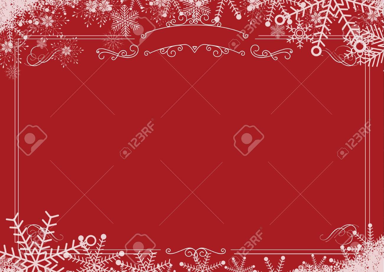 A3 Größe Cafe Menü - Weihnachten Winter Schneeflocke, Retro Grenze ...