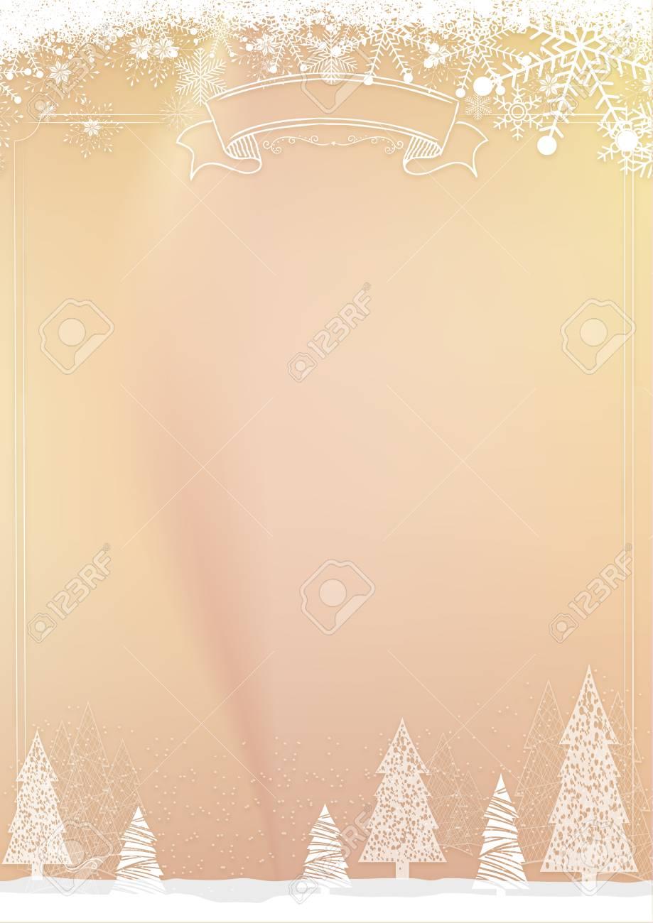 a3 size vertical cafe menu classic golden winter christmas