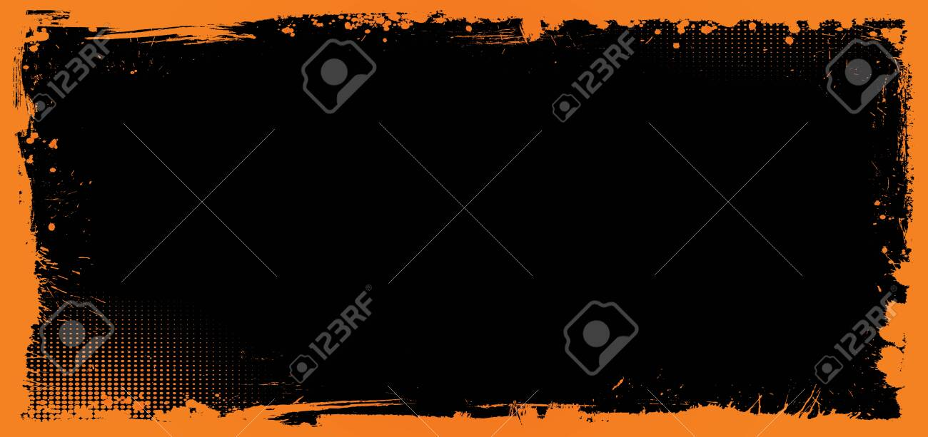 The Horizontal Vector Orange And Black Halloween Banner Background
