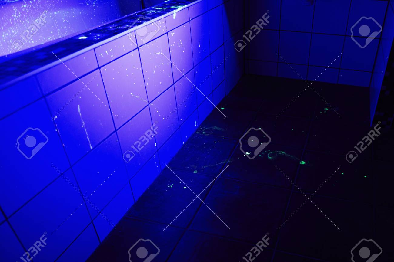 bathroom as place of crime under uv light stock photo picture and rh 123rf com  uv lights in bathroom