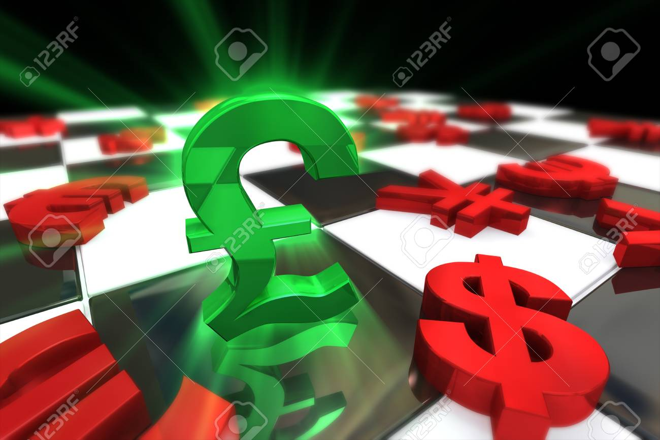 Green british pound sterling symbol with red international green british pound sterling symbol with red international currencies stock photo 22841962 biocorpaavc Gallery