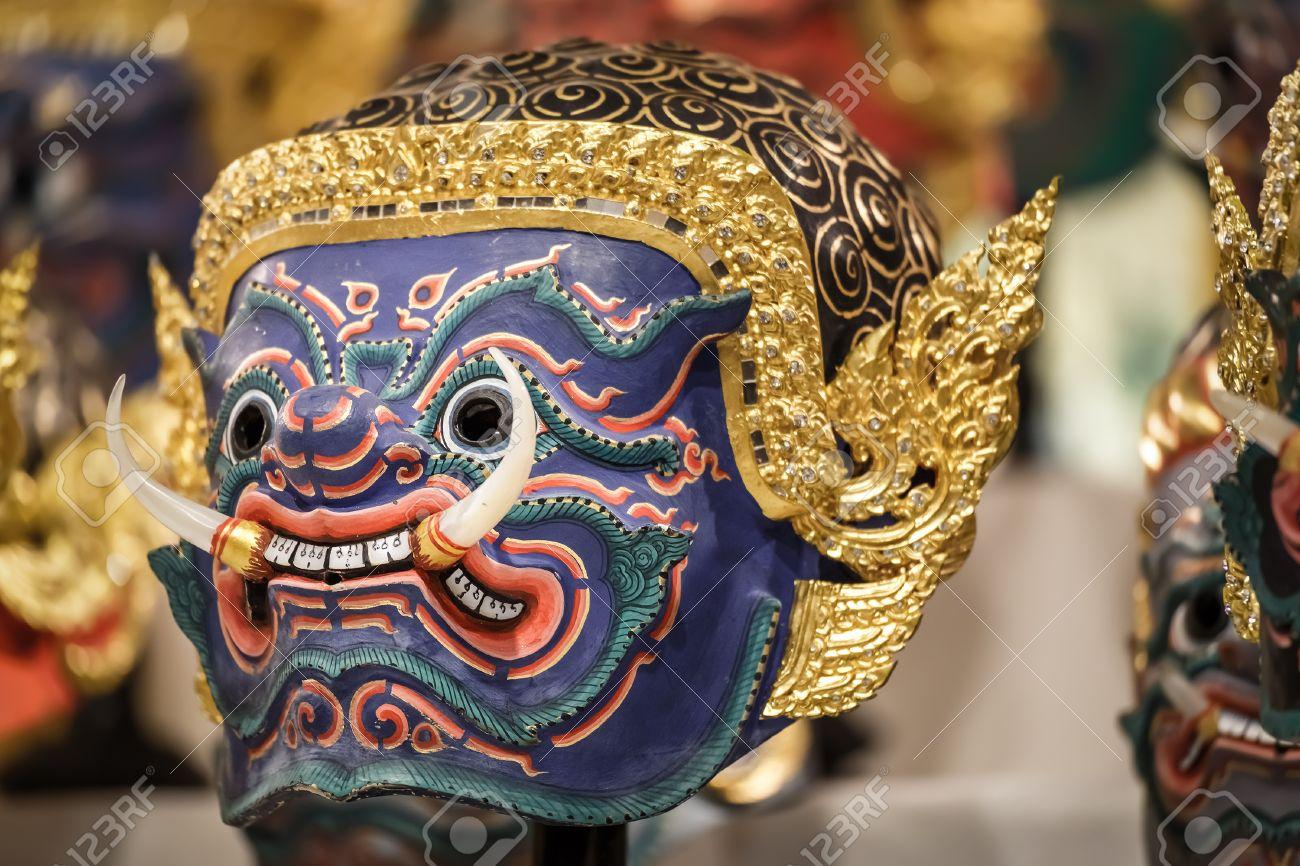 classcic nouveau produit design professionnel Hua Khon Thai Masque traditionnels utilisés dans Khon - danse  traditionnelle thaïlandaise de la saga épique du Ramayana