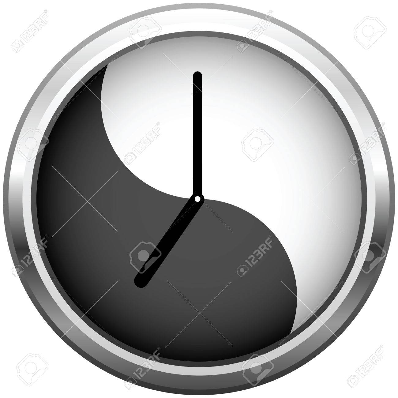 Wall clock for office grey with reflection stock vector 6700310 in wall clock for office amipublicfo Images