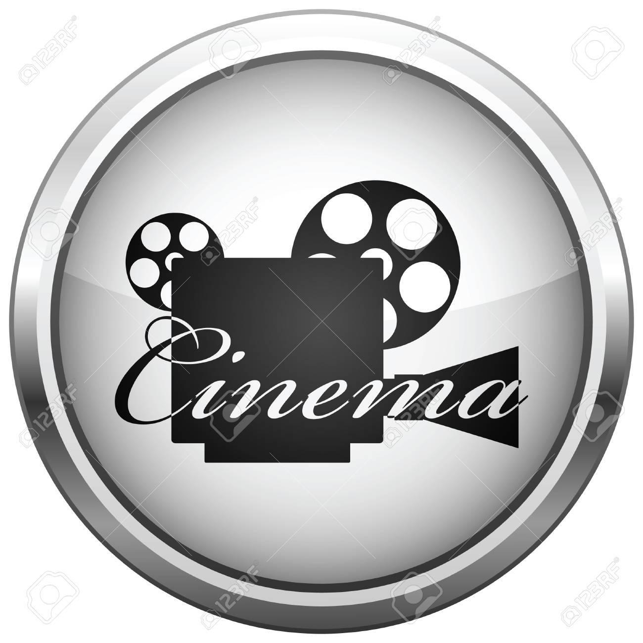 icon (button). The Video camera silhouette. Stock Vector - 6700319