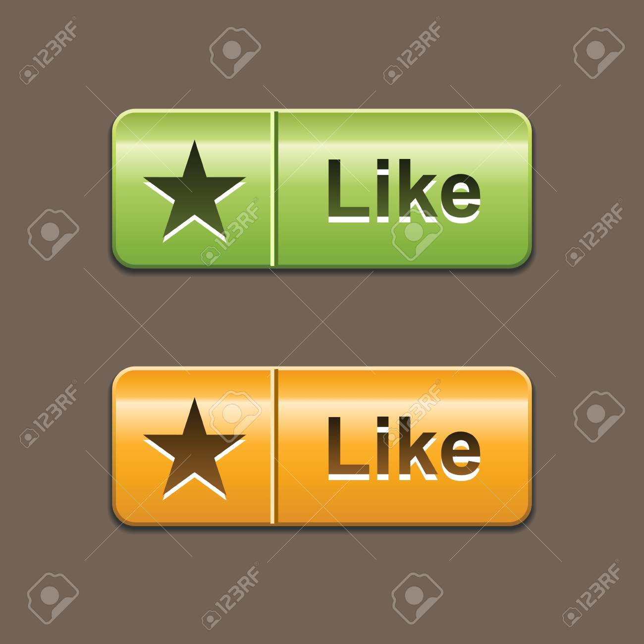 green and orange like buttons Stock Vector - 11664232