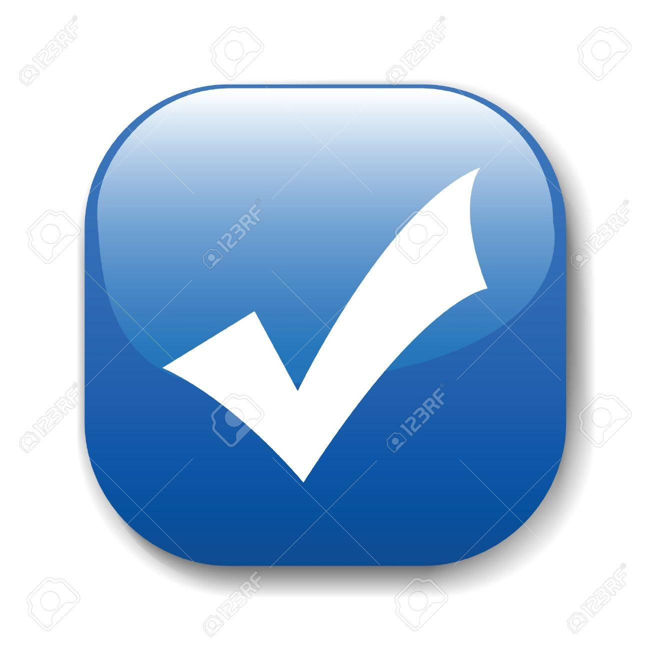 The dark blue button for a site web. A vector illustration, it is easy to edit and change. Stock Vector - 11816625