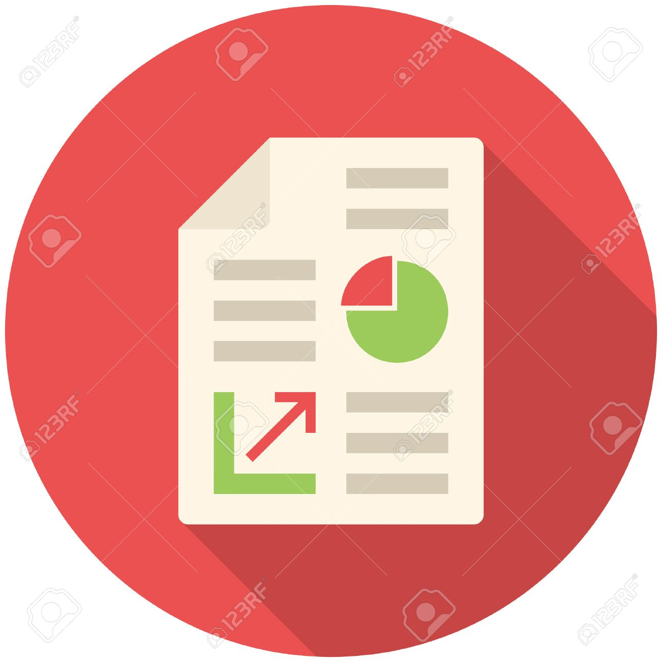 business report modern flat icon with long shadow royalty free