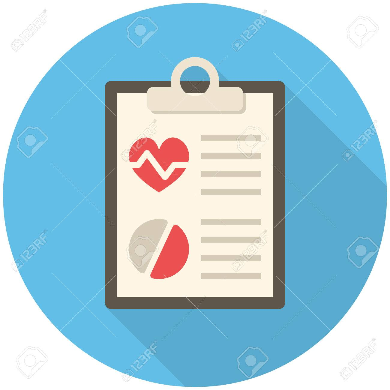 medical report modern flat icon with long shadow royalty free