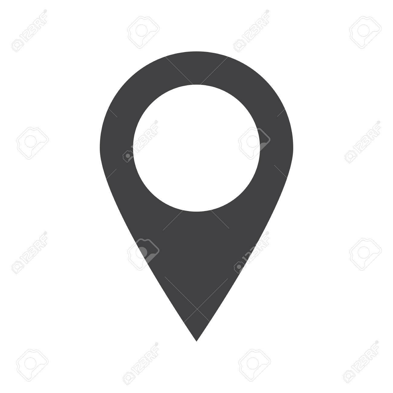Map pointer icon (flat design) - 35163001