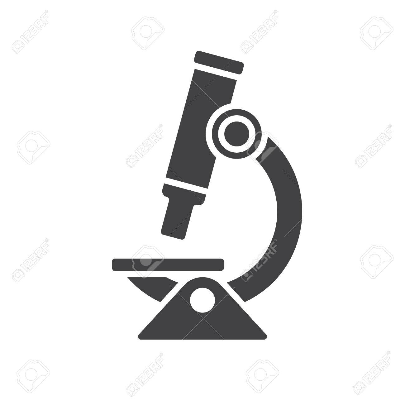 Microscope icon, modern flat icon - 35163030