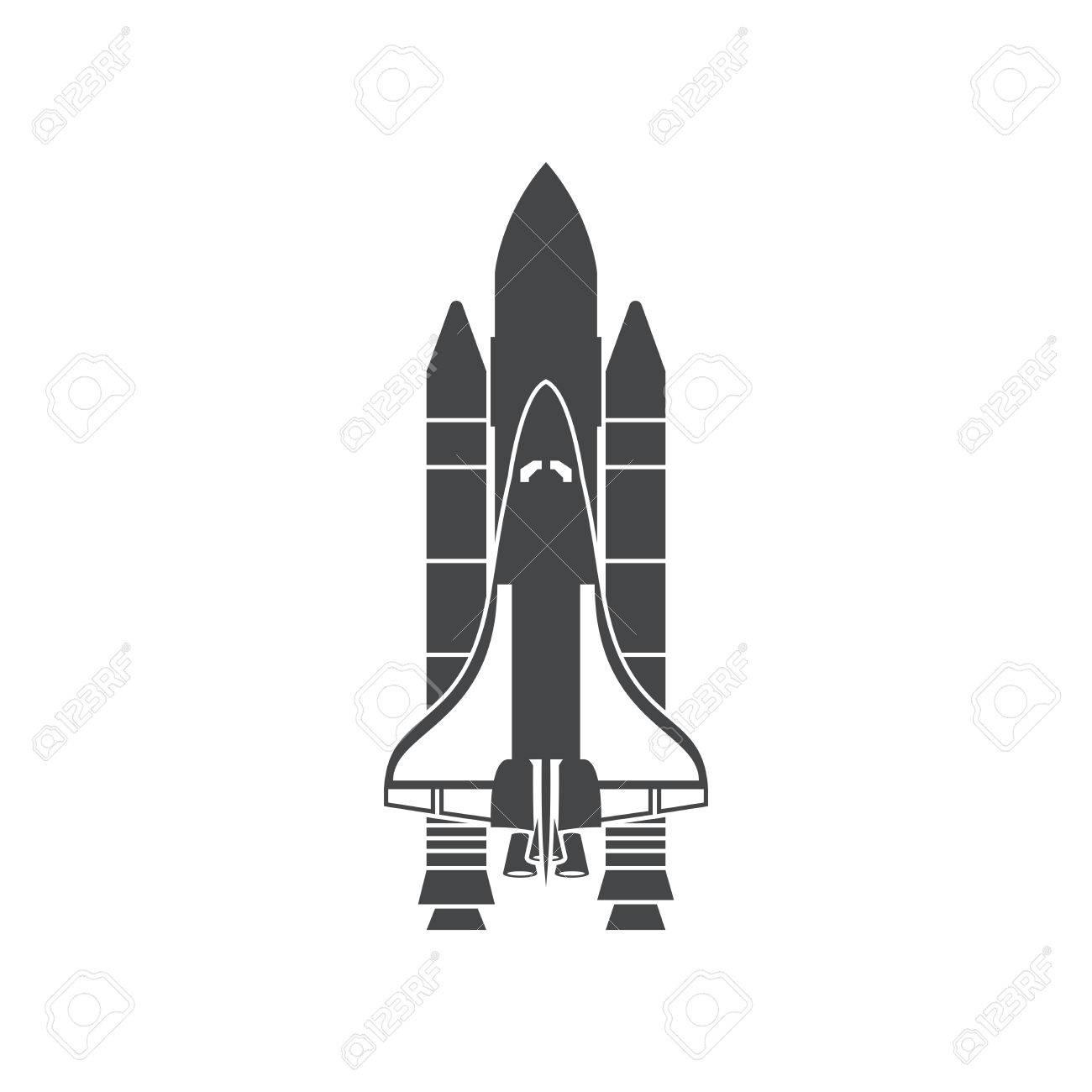 space shuttle silhouette vector illustration isolated on white rh 123rf com space shuttle vector logo nasa space shuttle vector
