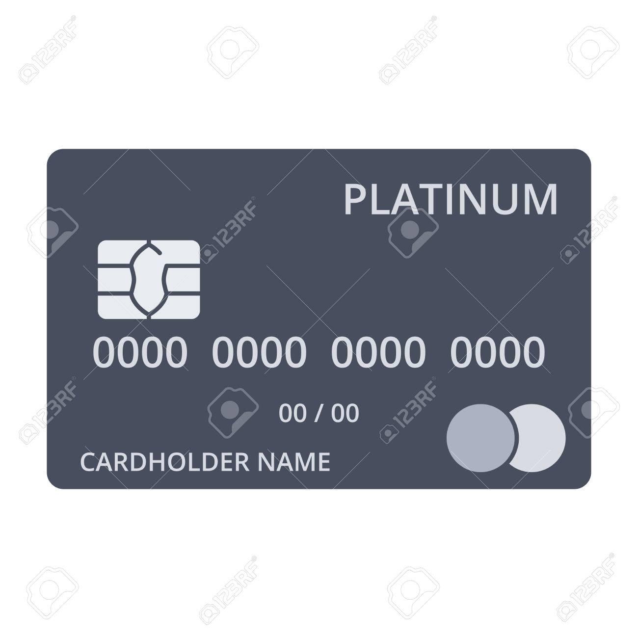c13a631fc7b5 Foto de archivo - Plantillas de tarjetas de débito de platino en estilo  plano.