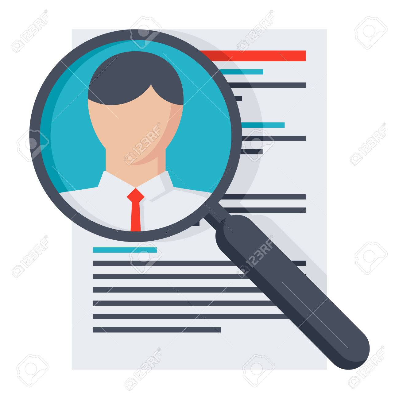 Analysing Resume Personnel Or Searching Professional Staff Stock
