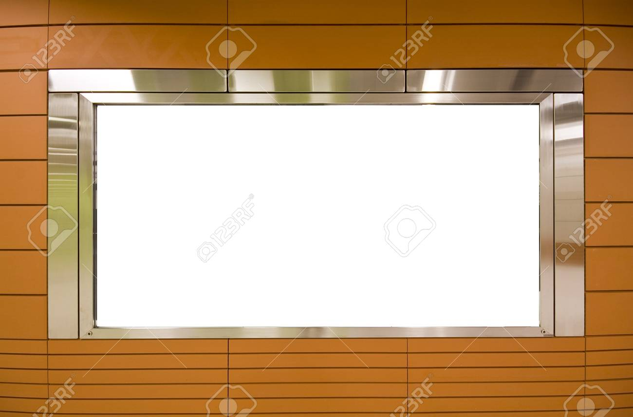Large Billboard for advertisement use and brown background Stock Photo - 7879107