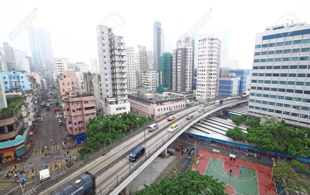 traffic in downtown, hongkong Stock Photo - 10722278