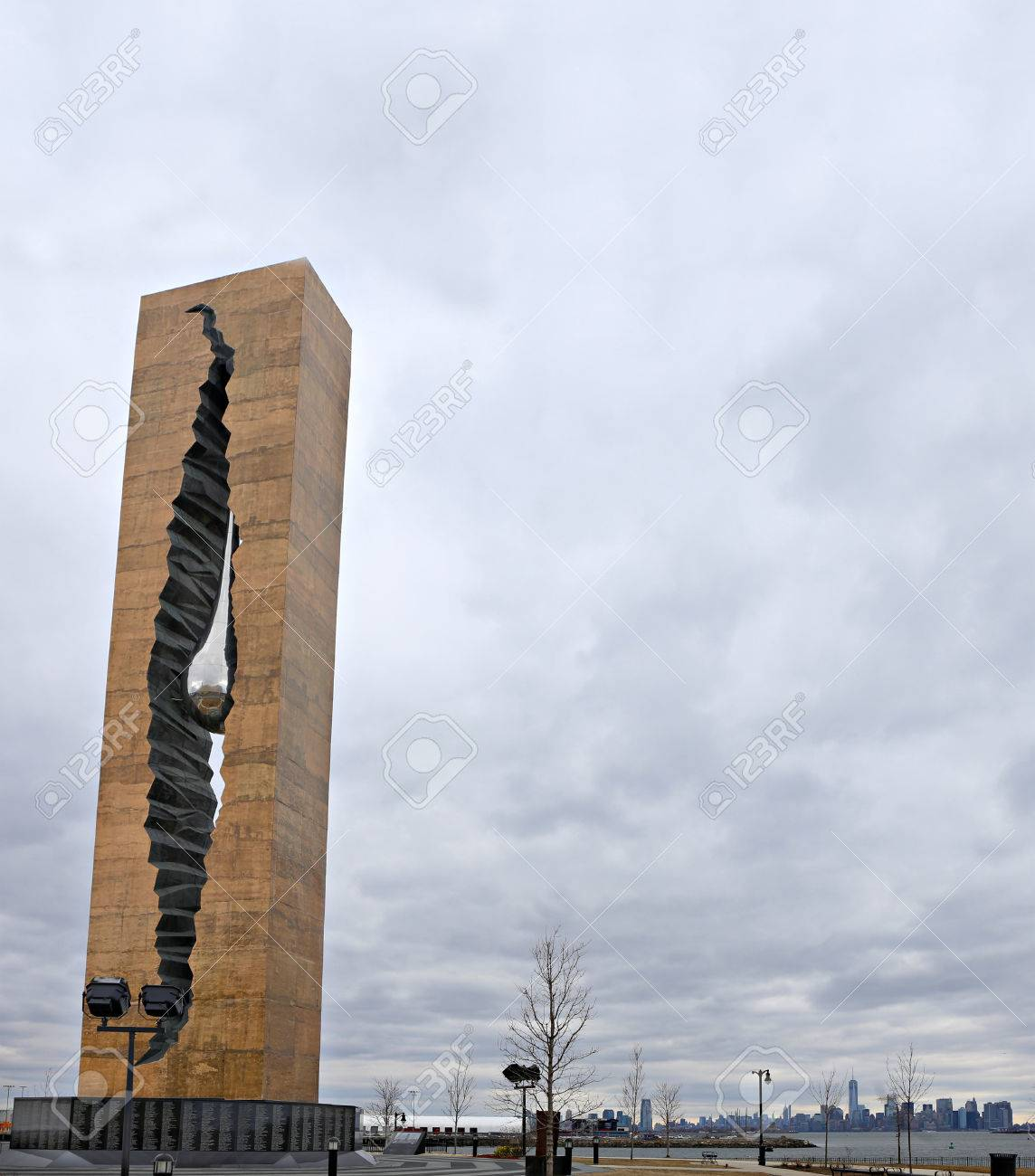 911 Teardrop Memorial, A Gift From Russia Stock Photo, Picture And ...