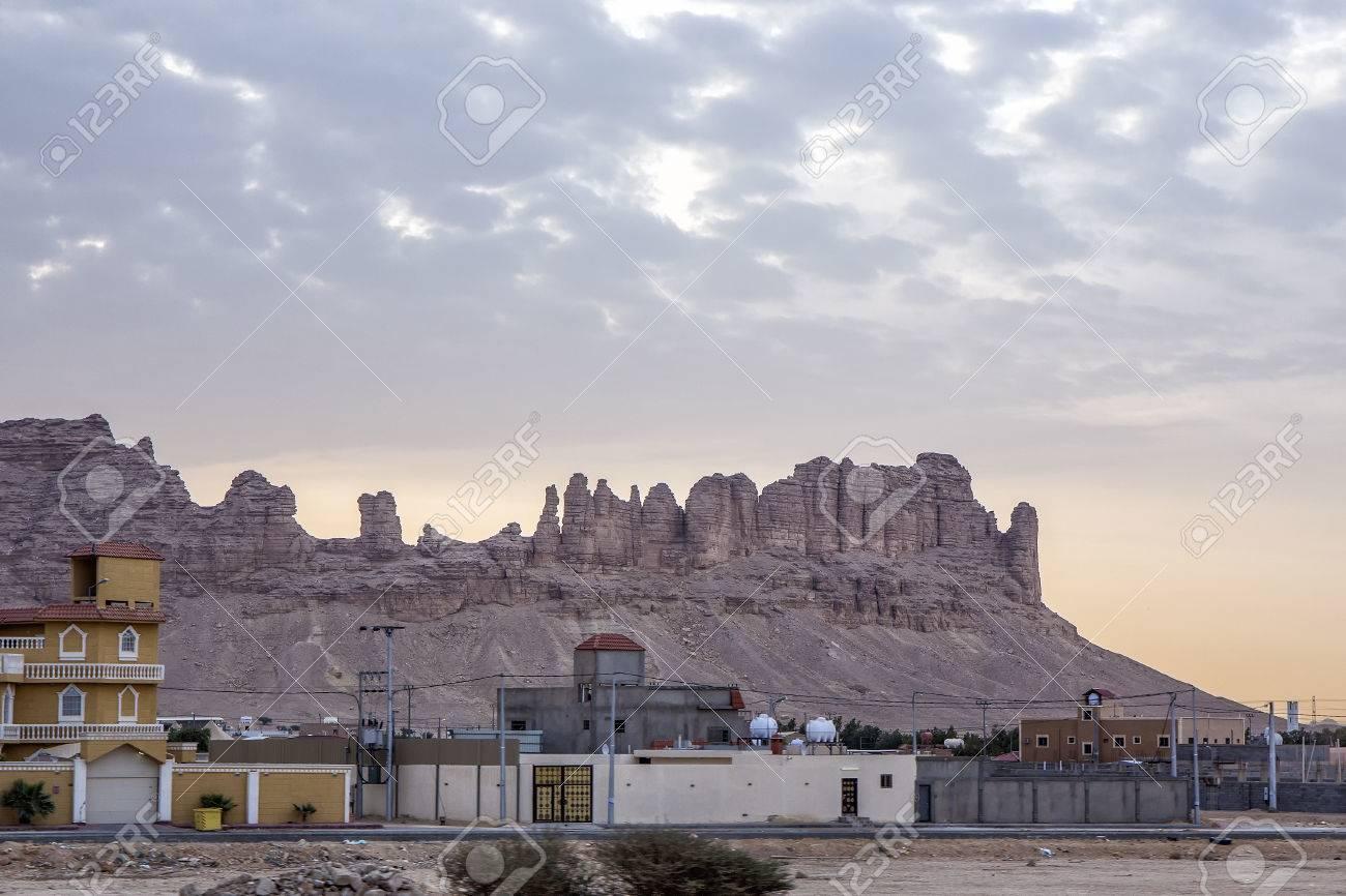 Saudi homes and Al Moqbel Palaces near Riyadh, Saudi Arabia,