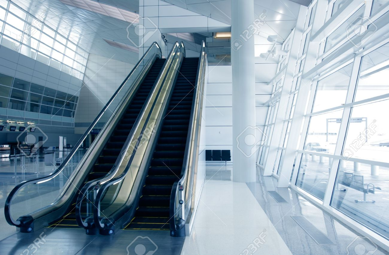 futuristic architecture in newly opened airport stock photo