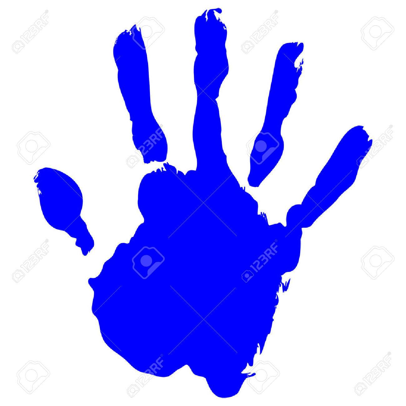 blue handprint vector on pure white background royalty free cliparts rh 123rf com bloody handprint vector handprint vector graphic