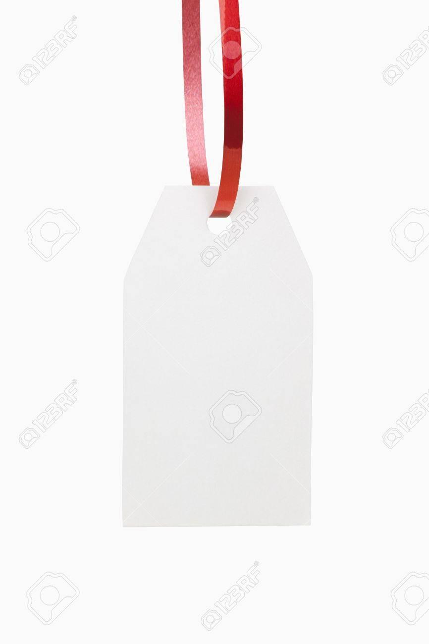 A blank white christmas gift tag Stock Photo - 15691275