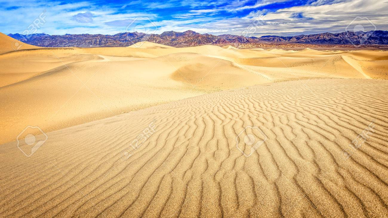 The Mesquite Flat sand dunes in Death Valley National Park - 54124649