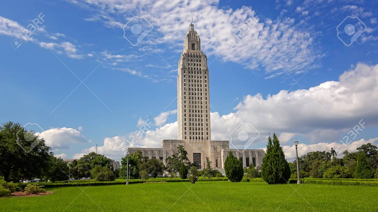 Louisiana State Capitol Building against sky in Baton Rouge - 89524629