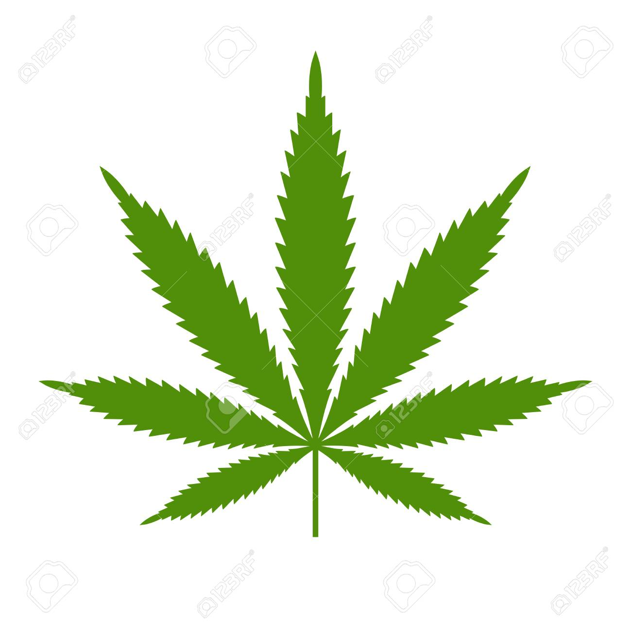 Marijuana or cannabis leaf Icon template isolated illustration on white background. - 98884557