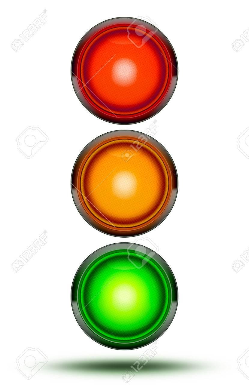 Die Ampeln Als Bei Fahrzeug Kreuzungen Oder Strassenkreuzungen