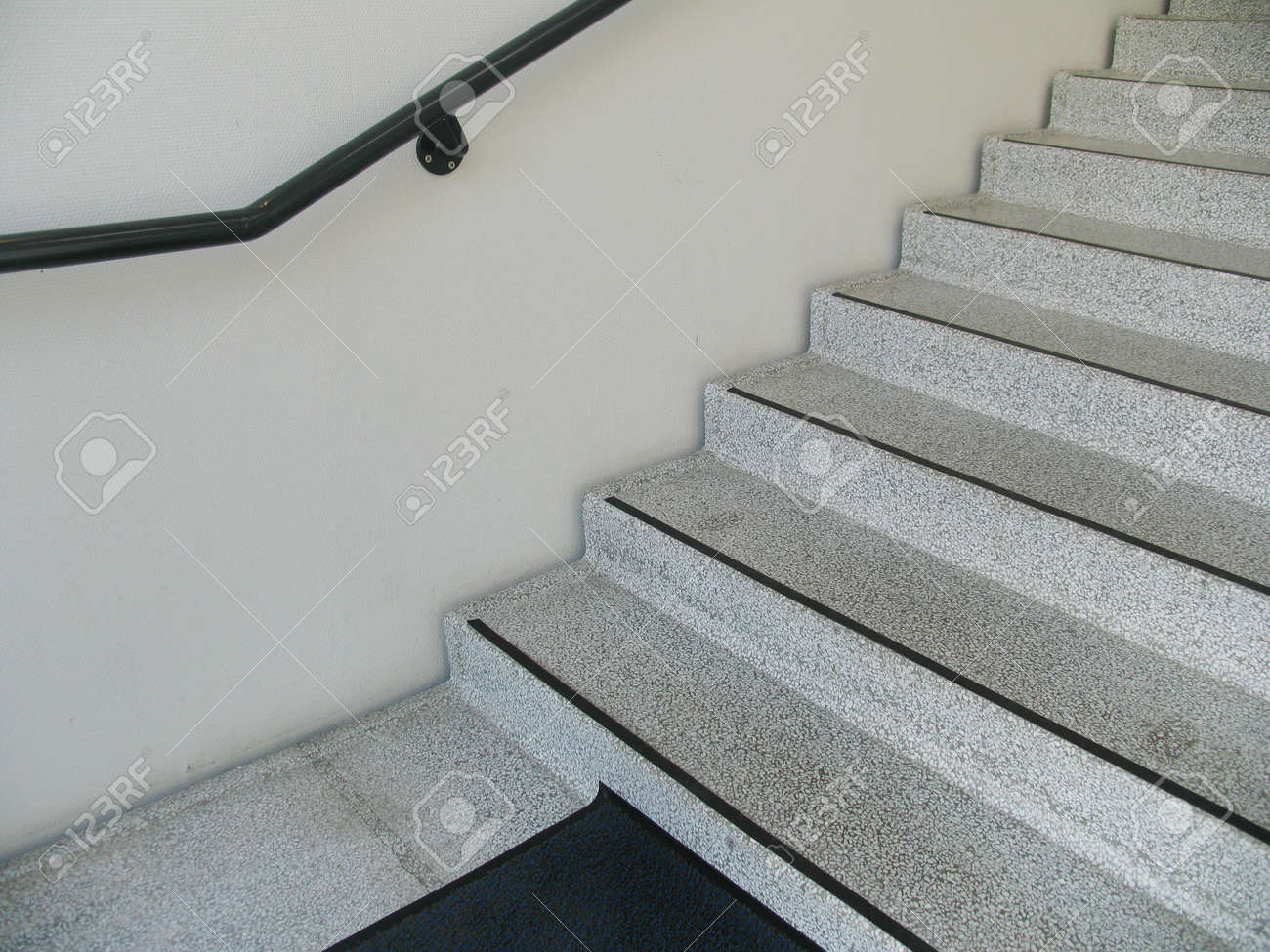 Interior Look Of Terrazzo Staircase In Apartment Building. Stock Photo    272640