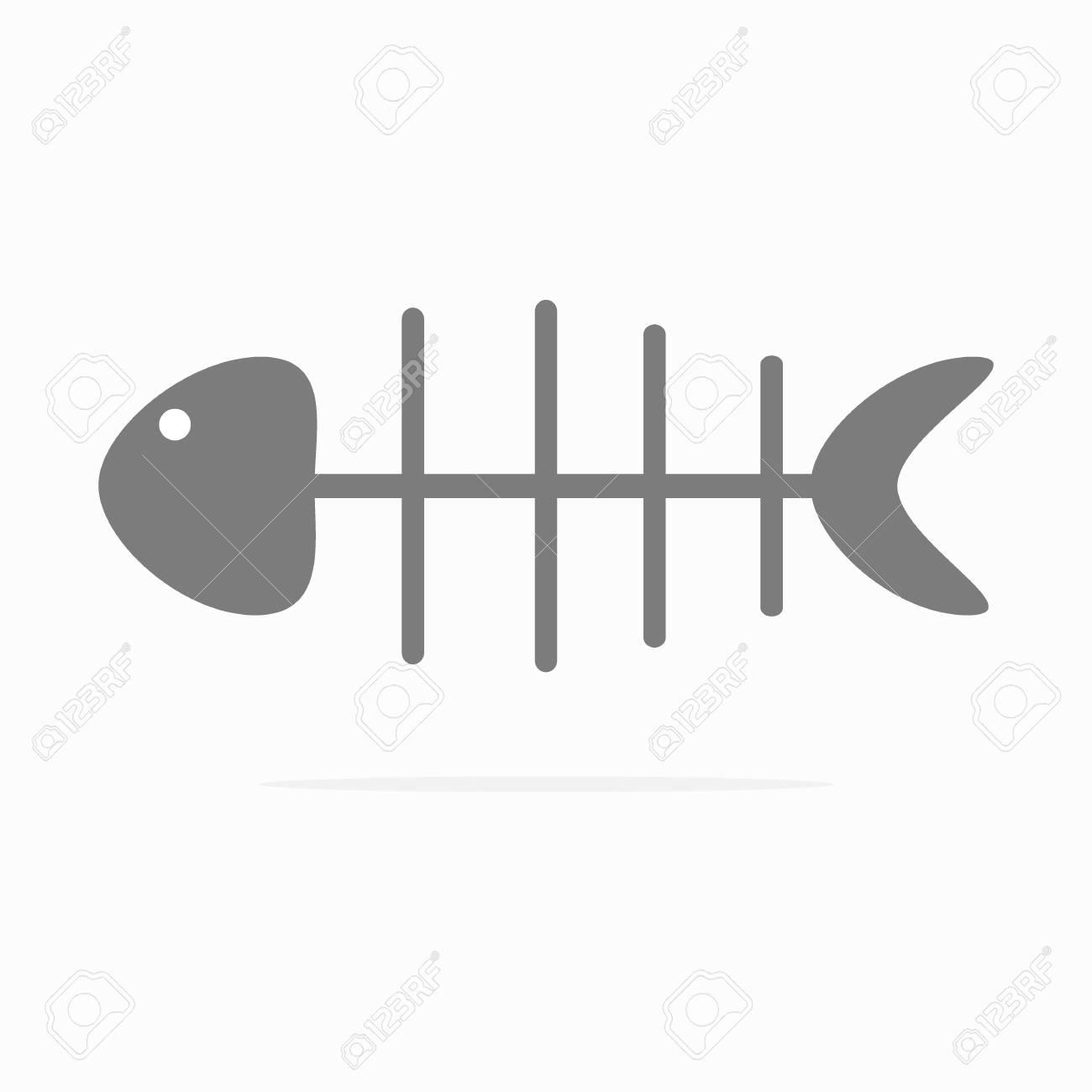 Fishbone Icon Vector. - 93837650