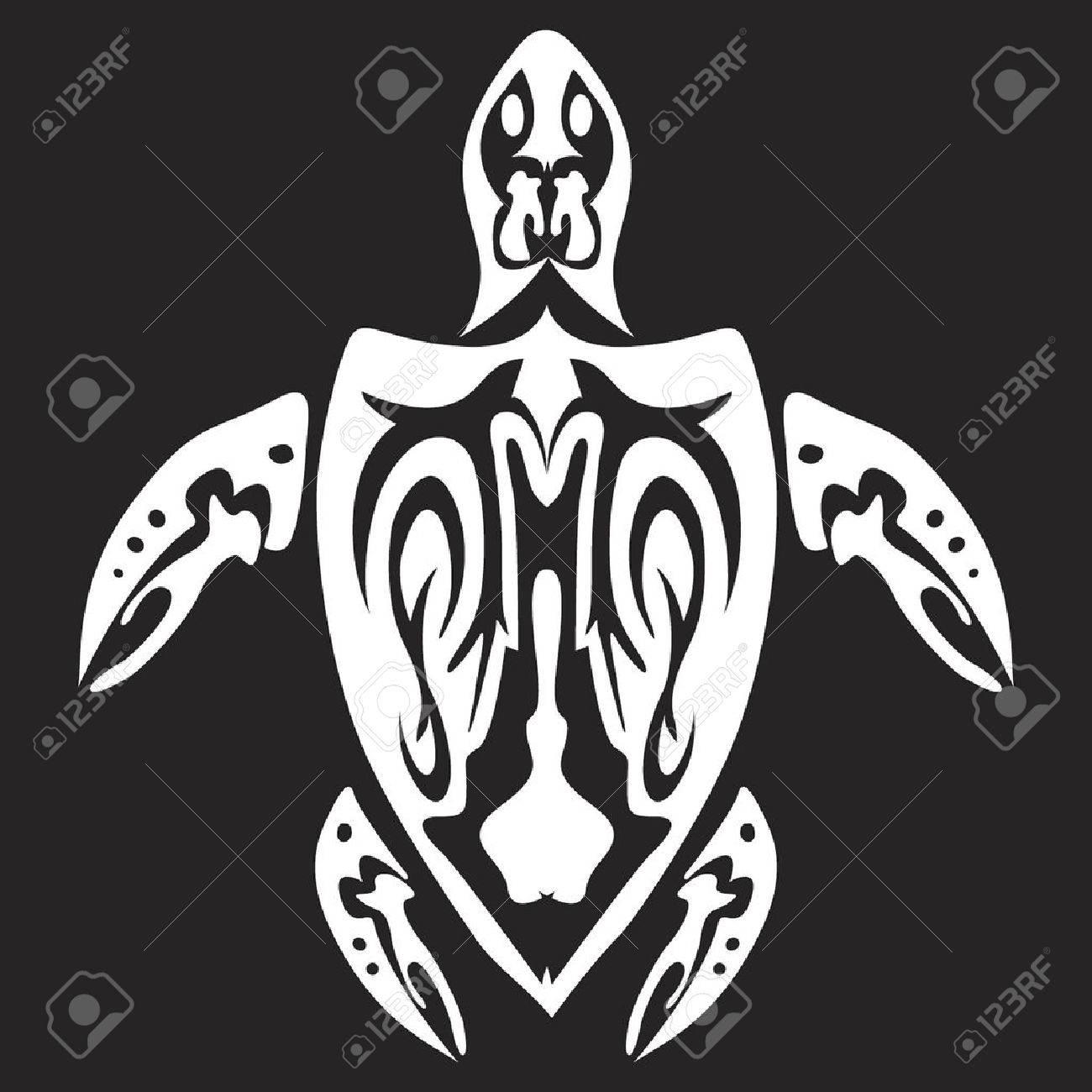 Tribal turtle design Stock Vector - 3288649