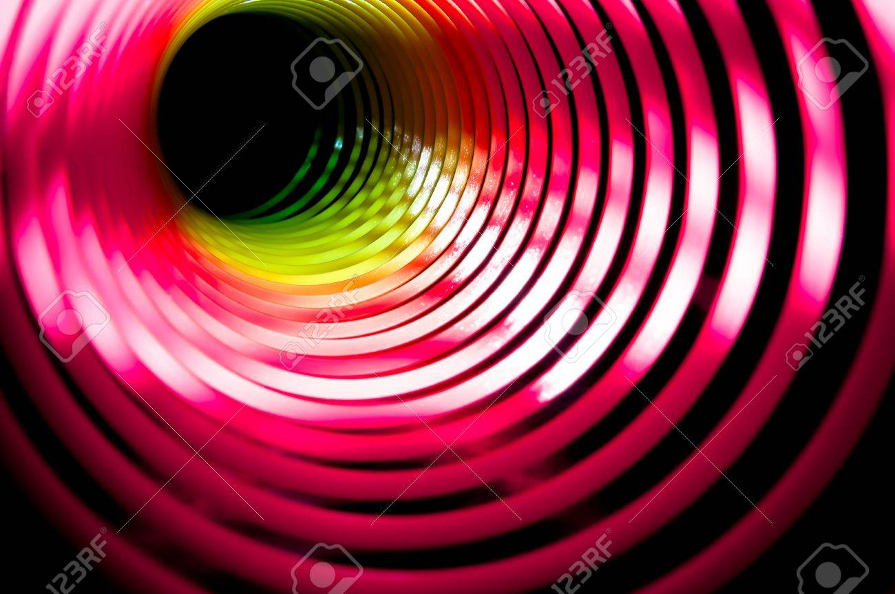 black hole made from a childs coloured spring Stock Photo - 13659939