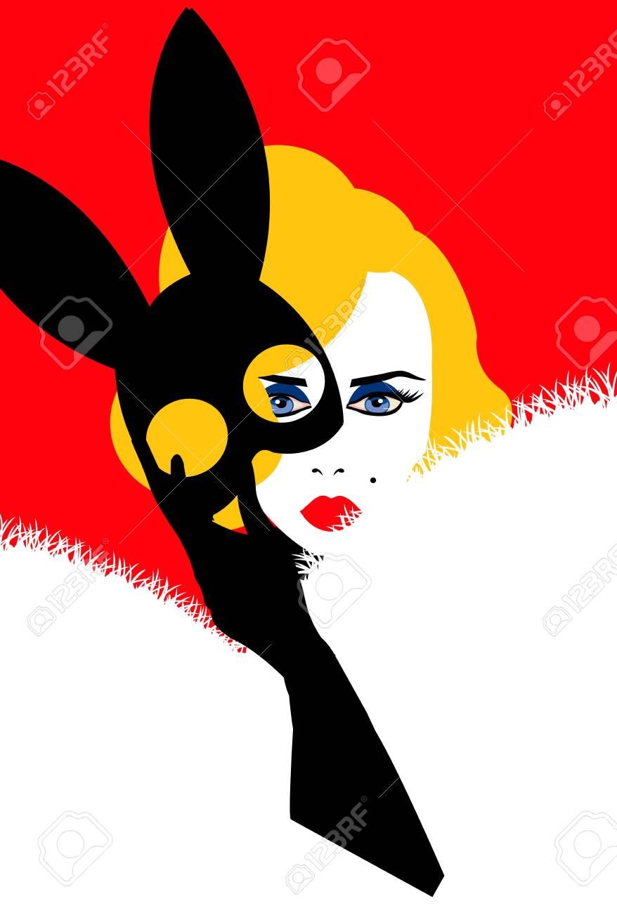 illustration of marilyn monroe taking off her bunny mask red royalty free cliparts vectors and stock illustration image 137636564 illustration of marilyn monroe taking off her bunny mask red